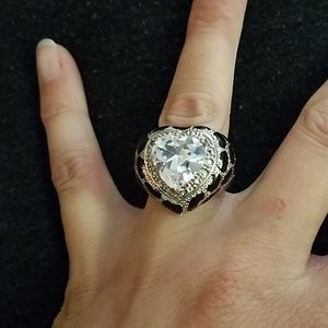 *3/$20* Guess Brand Leopard Heart Statement Ring